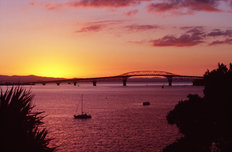 Waitemata Harbour At Sunset Wall Mural