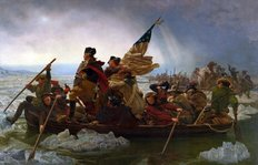 Washington Crossing the Delaware River Wallpaper Mural