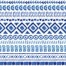 Watercolor Ethnic Seamless Pattern Wallpaper