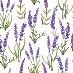 Watercolor Lavender Pattern Wallpaper