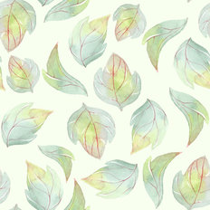 Watercolor Leaf Pattern Wallpaper