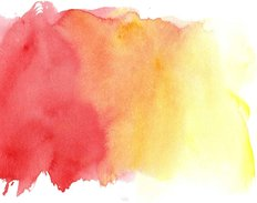 Watercolor Paints On A Rough Texture Wall Mural