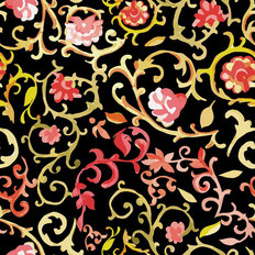 Watercolor Paisley Pattern Wallpaper