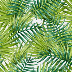 Watercolor Palms Pattern Wallpaper