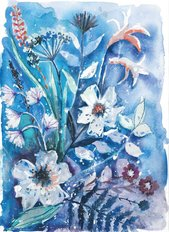 Watercolor Wildflowers 1 Wallpaper Mural