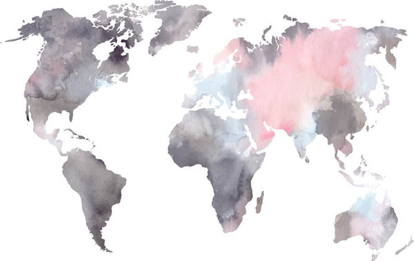 Watercolor World Map Wall Mural Murals Your Way