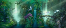 Waterfall Fantasy Wall Mural