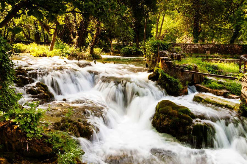 Waterfalls In The Forest Wallpaper Mural