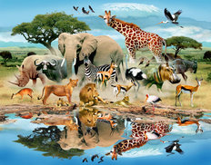 Watering Hole Wallpaper Mural