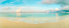 Waves On Seven Mile Beach In Cayman Islands Wallpaper Mural