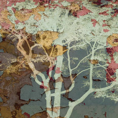 Weathered Tree-Blue Wall Mural