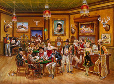 Western Saloon Mural Wallpaper