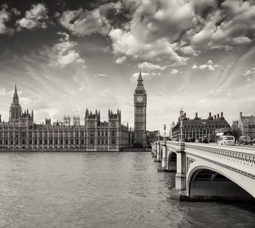 Westminister Palace and Bridge Wallpaper Mural