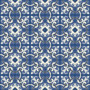 White and Blue Tile Pattern