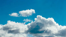 White Cumulus Clouds Wall Mural