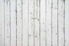 White Wooden Fence Mural Wallpaper