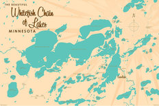 Whitefish Chain, MN Lake Map Wall Mural