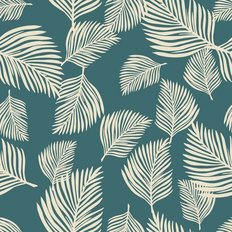 Wild Fern Leaf Pattern Wallpaper