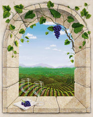 Wine Country Afternoon Wallpaper Mural