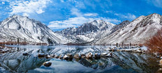 Winter At Convict Lake Wall Mural