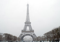 Winter In Paris Wallpaper Mural