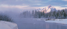 Winter Morning Tetons Wall Mural