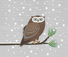 Winter Owl Wall Mural