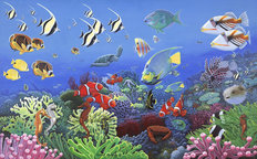 Wonders Of The Sea Mural Wallpaper