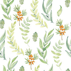 Woodland Foliage Pattern Wallpaper