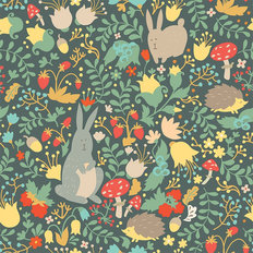 Woodland Friends - Bright Wallpaper