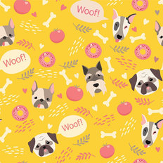 Woof! Pattern Wallpaper