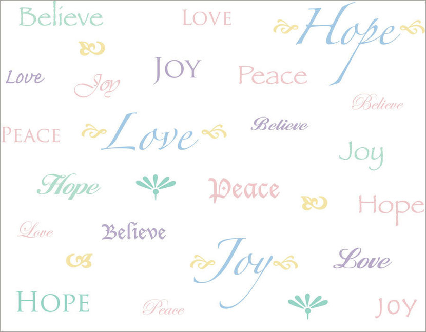 Words To Live By-Multi Mural Wallpaper