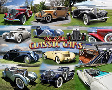 World Class Classic Cars Mural Wallpaper