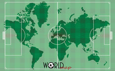 Soccer World Map Mural Wallpaper