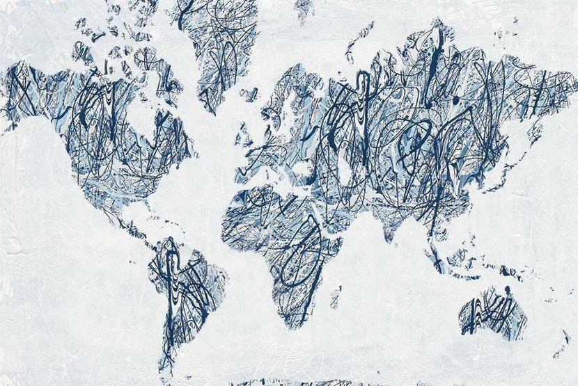 World on a String Wall Mural