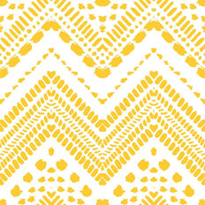 Yellow and White Chevron Wallpaper