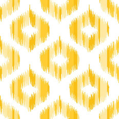 Yellow Ikat Pattern Wallpaper
