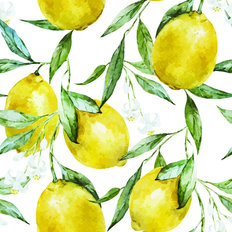Yellow Lemons On Branch Wallpaper