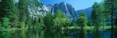 Yosemite Falls and Merced River Mural Wallpaper