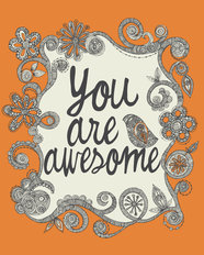 You Are Awesome Wall Mural