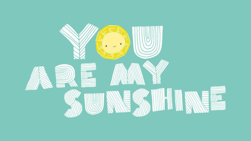 You Are My Sunshine (Rosas) Mural Wallpaper