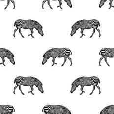 Zebra Trot Pattern Wallpaper