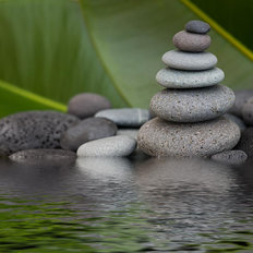 Zen Rock Pond Wallpaper Mural