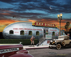 Zeppelin Diner (No Text) Wall Mural